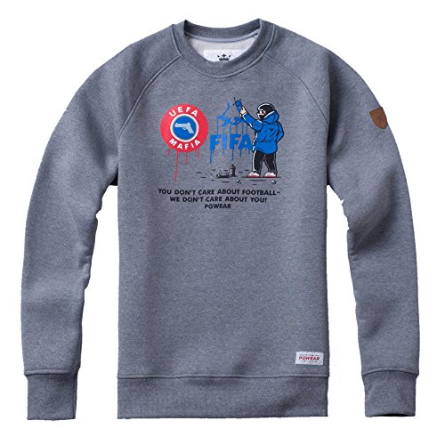 PG Wear We Don`t Care Ultras Hool Pyro grau Sweatshirt Pullover (L)