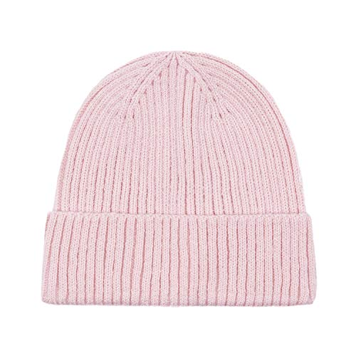 Schön Beanie Knit Beret Skullcap Lange Baggy Winter-Sommer-Hüte, Strickmütze Beanie mit Inside Cozy Liner Für Frauen (Color : Pink, Size : 56-58cm)