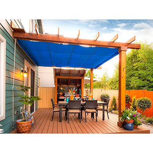 YUDEYU Balcony Shade Net Privacy 90% Sun Protection Rate Patio Gardening Cooling Insulation (Color : Blue, Size : 100x300cm)