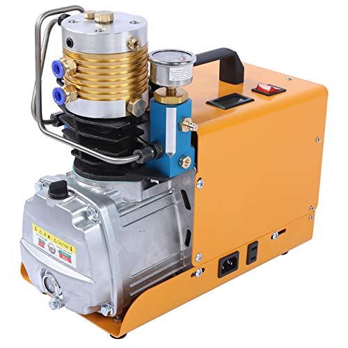 Bomba de compresor de aire de refrigeración de aire de carga grande 30MPa Inflador de aire de 4500PSI para tubería neumática(220V European standard)