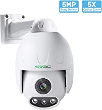 5MP PTZ Camera Outdoor, SV3C HD POE Security IP Camera Outdoor 5XOptical Zoom Pan Tilt Speed Two-Way Audio, 165-190FT Night Vision-Sony Sensor, H.265 Onvif Motion Detection, Support Max 128GB SD Card