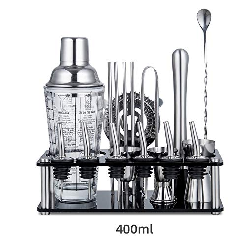 Bartender Kit 19 -Piece Bar Tool Set with Rustic Perfect Home Bartending Kit and Cocktail Shaker Set for An Awesome Drink Mixing Experience for Home Bar Party