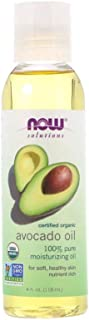 NOW Solutions, Organic Avocado Oil, 100% Pure Moisturizing Oil, Nutrient Rich and Hydrating, 4-Ounce