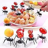 MHDST Tenedor De Frutas En Movimiento para Hormigas Que Trabajan Duro, 12/24/36 Piezas Palillos De Dientes para Hormigas Tenedor De Postre De Frutas