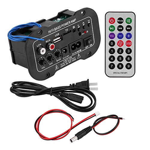Amplificador de alta fidelidad, entrada USB Amplificador de potencia de audio Entrada de tarjeta de memoria para reproducción de audio de alta fidelidad para equipos de audio