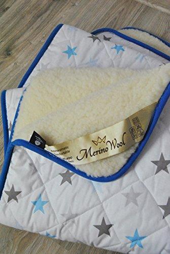 2 in 1 WOOLAMRKED MERINO WOOL babydeken, wollen dekbed natuurlijk, alle maten. Perfect voor Cadeau COT Bed Deken Baby Dekbed Peuter