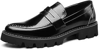 [Tiandao] シューズ メンズ靴 ビジネスシューズ 革 軽量 快適 防滑 軽量 アウトドア 高級紳士靴