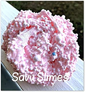 6oz Bubble Gum *SCENTED* Homemade Floam Slime - Pink w/ Foam Balls Crunchy - Squishy - Satisfying ASMR - Handmade in USA