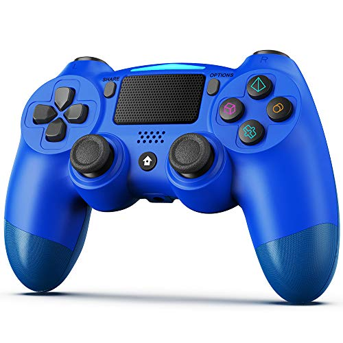 Controller für PS4,BestOff Wireless Controller für PlayStation 4/Pro/Slim, Touchpanel-Gamepad mit Dual Vibration Shock, Turbo und Audio-Buchse Joystick Controller für PS4
