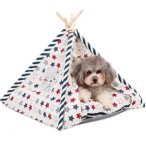 Herewegoo Huisdieren Teepee Honden Katten Konijnen Bed Oxford Doek Linnen Draagbare Huisdier Tenten Huizen