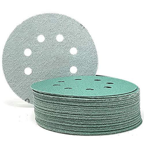 ZANYUYU 5 inch 8 Hole 80 Grit Hook Loop Sanding Discs Orbital Sander Paper, for Car Paint Wood or Metal Grinding- 50 Pack