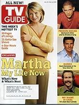 TV Guide October 31, 2005 Martha Stewart, Jason Lee/My Name Is Earl Interview, Craig Ferguson Guest Columnist, Prison Break, Invasion, Ron Livingston/House, Rusty Wallace & Mark Martin/Nascar Nextel Cup