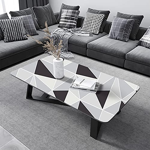 Papel Adhesivo para Muebles 45 cm x 300 cm Geométrico Gris Blanco...