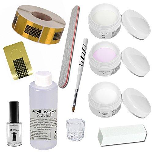 Acryl Set - Florenz - Nagelstudio Starterset - Acrylpulver - Nail Kit - Acrylpulver - Arcylflüssigkeit - Arcyl Zubehör