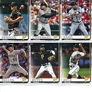 2019 Topps Series 2 Baseball Pittsburgh Pirates Team Set of 11 Cards: Chris Archer(#380), Jung Ho Kang(#391), Steel City Slammers(#425), Lonnie Chisenhall(#431), Steven Brault(#435), Kevin Newman(#471), Pablo Reyes(#498), Keone Kela(#516), Adam Frazier(#6