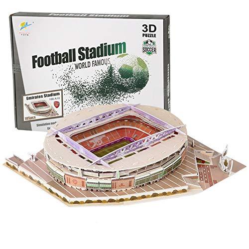 N\A 3D Jigsaw Puzzle, Arsenal Emirates Stadium,World Famous Football Stadium, DIY Model, Children's Educational Toy, For Arsenal Fans 105Pcs