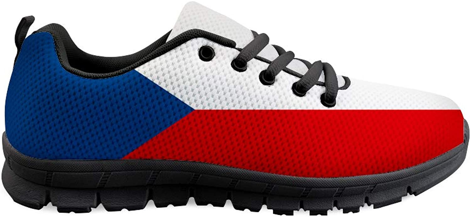 Owaheson Lace-up Sneaker Training shoes Mens Womens Czech Flag