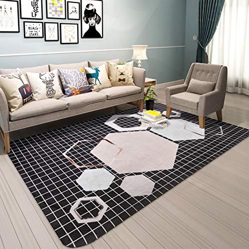Haojie Simple Alfombra de la Sala Moderna Mesa de Centro del Amortiguador del sofá del Dormitorio de habitación Las alfombras de cabecera Rectangular,A,180cm*280cm
