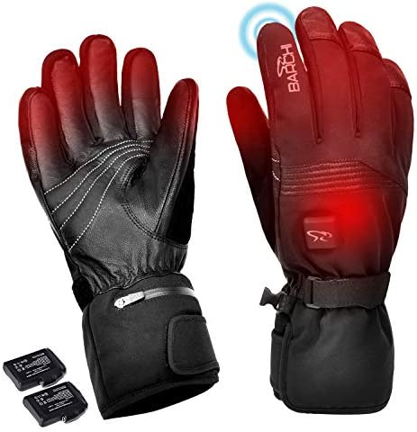BARCHI HEAT Electric Heated Gloves for Men Women Rechargeable Battery Powered Lightweright Ski product image