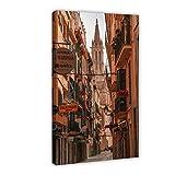 Póster de viaje HD Mallorca Estético Lienzo Póster de pared Decoración Impresión Cuadro Cuadro Cuadro Cuadro Decoración para Sala de Estar Dormitorio 30 × 45 cm