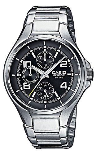 Casio EDIFICE Orologio, Robusta Cassa, 10 BAR, Nero, Uomo con Cinturino in Acciaio Inox EF-316D-1AVEF