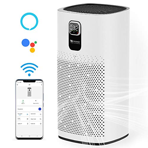 Proscenic A9 Smart Air Purifier for Home Large Room with H13 True HEPA Filter for 968ft², APP & Alexa & Google Voice Control, Timer, Auto & Sleep Mode, PM2.5 Display, Filter Change Reminder, 24dB