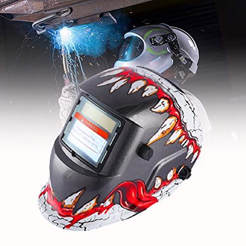 CSYHJRS Máscara de Soldadura eléctrica de Rango Ajustable Lente de Soldadura de Casco, con Vista Grande, Rango de Sombra Ajustable, para soldar ARC TIG MIG