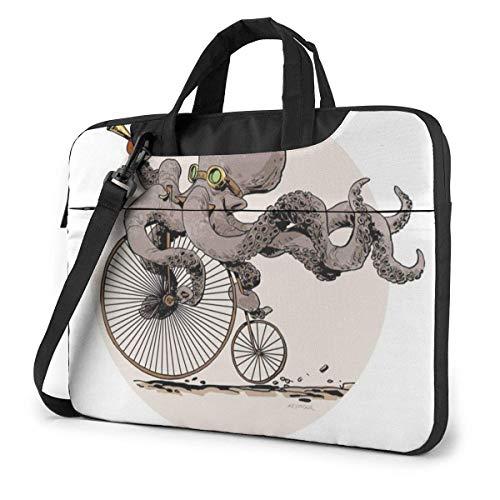 15.6″Durable Hombro Mensajero Bolsa maletín PC Tatuajes De Bicicleta Steampunk Moda Impermeable...