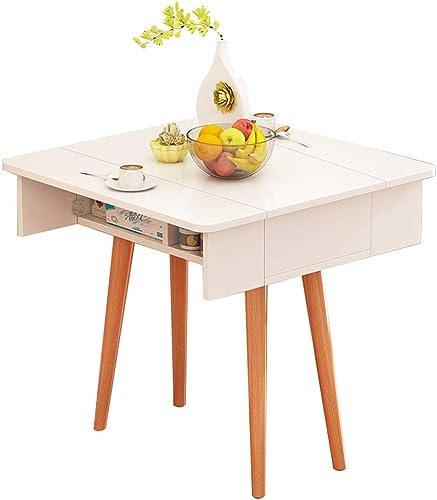 Table pliante ZB Ménage Petit Appartement Table à Manger Rectangulaire Simple 4-6 Personnes Nordique Simple Petite A+ (Couleur   A, Taille   80CM)