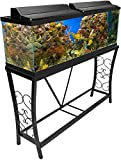 Aquatic Fundamentals 55 Gallon Metal Aquarium Stand, Black