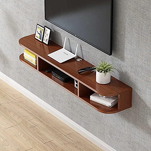Mueble de TV flotante,Mueble TV de Pared Tablero de PartíCulas, Estante Flotante Almacenamiento Caja Decodificadora Enrutador para Sala de Estar Dormitorio/A/Los 140CM