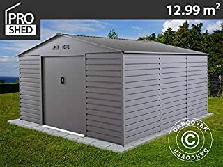 Dancover Caseta de Jardin 3,4x3,82x2,05m ProShed, Aluminio Gris