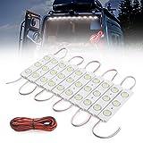 MICTUNING 30 LEDs 12V Van Interior Light Car LED Ceiling Lights Kit, Bright White Lighting Dome Lamp Project Lens Lighting Work Lights Kit for Van RV Truck Auto Car Vehicle Cargo Caravan (10 Modules)
