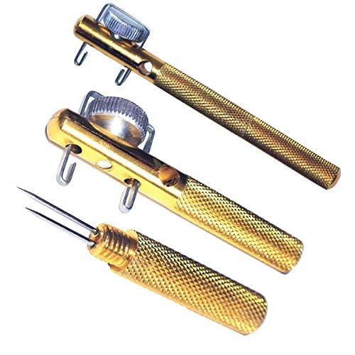 Wallfire Gancho de Pesca Nivel Aguja de Doble Cabezal Nudo Manual Nivel Gancho de Pesca Dispositivo de Amarre Nudo de hebra