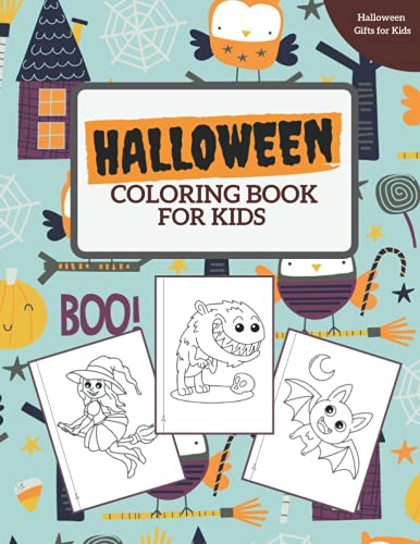 Halloween coloring book for kids: halloween gifts for kids: spooky halloween activity book for kids of all ages 2-4, 3-5, 4-8, toddlers