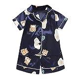 Pijama para niños bebé niña Dibujos Animados Pijamas Ropa de Dormir Camiseta Pantalones Cortos Ropa Conjunto Verano niños Ropa de Dormir Pijamas