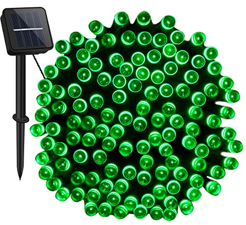 Outdoor Solar Lights for The Garden,Cshare 200LED 72ft Fairy String Lights 8Modes IP65 Waterproof Solar Powered String Lightning for Yard,Pathway,Christmas Tree,Home,Wedding,Party Decorations(Green)