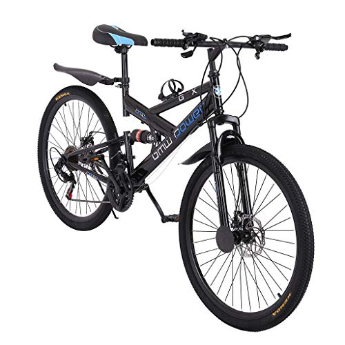 FartPeach 26in Professional Mountain Bike Full Suspension Carbon Steel Shimanos 21 Speed Bicycle for Men/Women