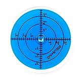 Große Dosenlibelle, Durchmesser 60mm, blau, Plexiglas - hohe Genauigkeit und gute Ablesbarkeit
