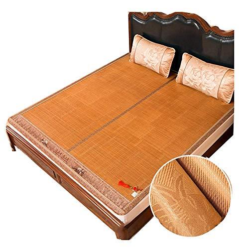 ZXL Cooling Topper matras zomer slaapmat cool gemakkelijk op te vouwen dubbelzijdige slaapzaal enkel tweepersoonsbed bekleding - 2 kussenslopen (grootte: 135X195cm)