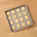 MAOX Quadratisches Backblech , 11 Zoll Nicht-haftende Quadratische Kuchenform
