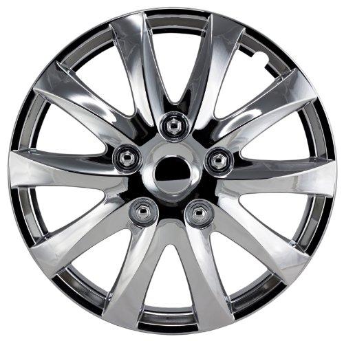 Alpena 58316 Chrome Wheel Cover Kit - 16-Inch - Pack of 4