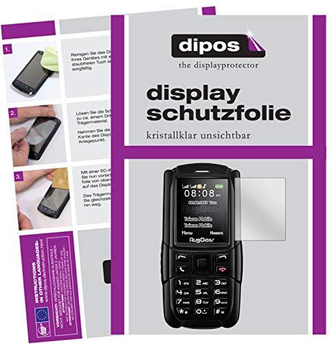 dipos I 6X Schutzfolie klar kompatibel mit Ruggear RG129 (2018) Folie Bildschirmschutzfolie