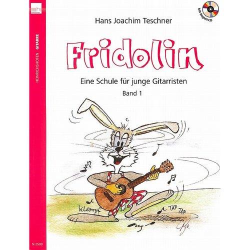 Heinrichshofen Fridolins Gitarrenschule Bd.1 Teschner, Buch und CD