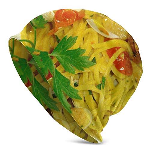 IMERIOi Berretti in Maglia da Donna da Uomo Cappelli Spaghetti Vongole Frutti di Mare Cappellini Invernali Caldi per Adulti