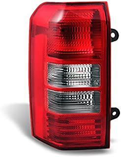 For 2008-2017 Jeep Patriot SUV Red Clear Rear Tail Light Tail Lamp Brake Lamp Driver Left Side Replacement