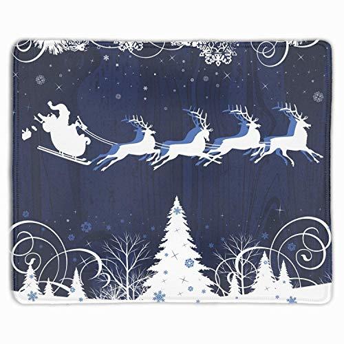 Mausmatte, personalisierte rutschfeste Mousepad für Büroarbeit Reise nach Hause Santas Schlitten