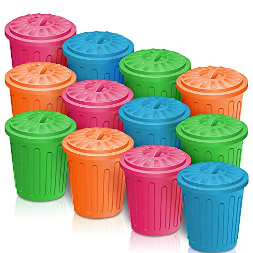 ArtCreativity 4.5 Inch Mini Trash Can Set - 12 Pack - Miniature...