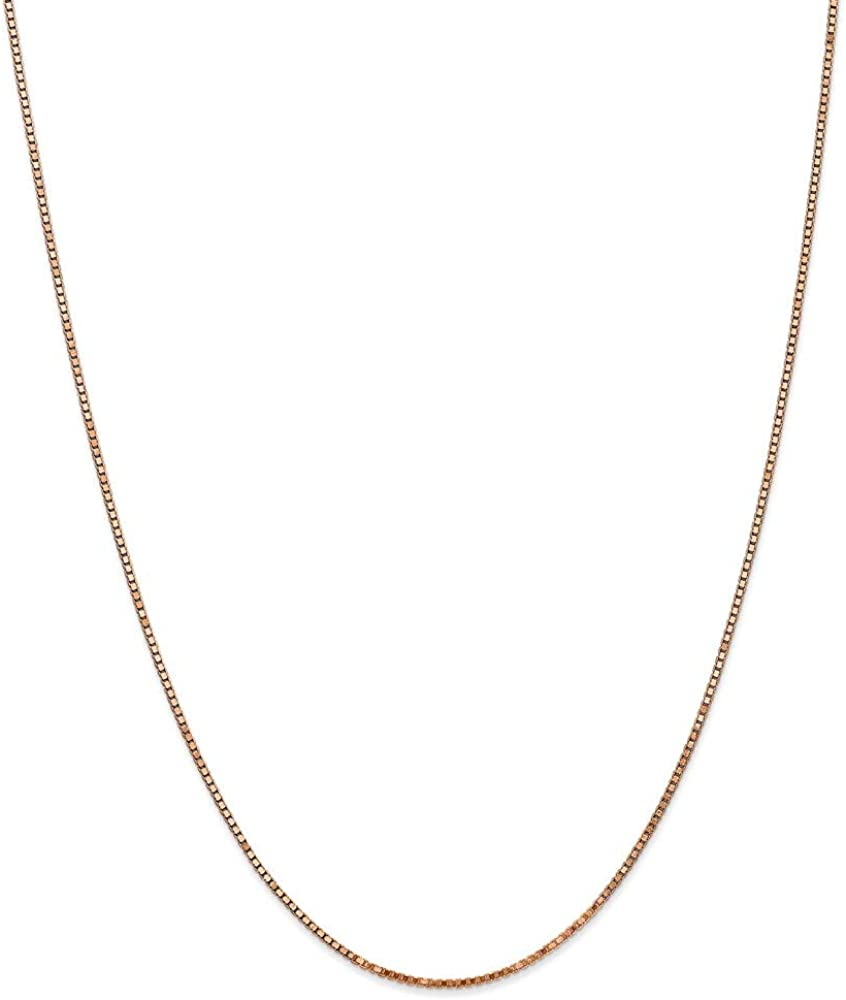 14k 55% OFF Rose Gold 1.30mm Chain Necklace Box Jacksonville Mall 18