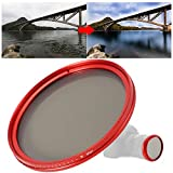 BOLORAMO Filtro Obiettivo ND Regolabile a densità Neutra ND2‑400 per Obiettivo per Foto...